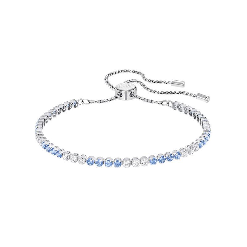 Swarovski 施华洛世奇 女士Subtle系列 蓝色璀璨光泽手链 5382305
