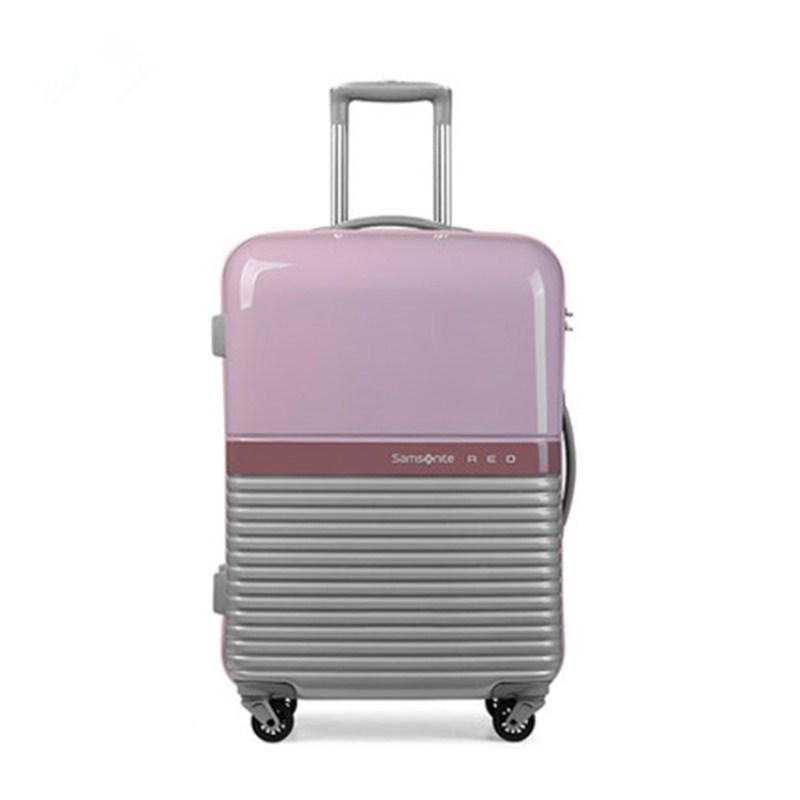 Samsonite新秀丽 75R彩色拼接PC+ABS拉杆箱 粉色/银