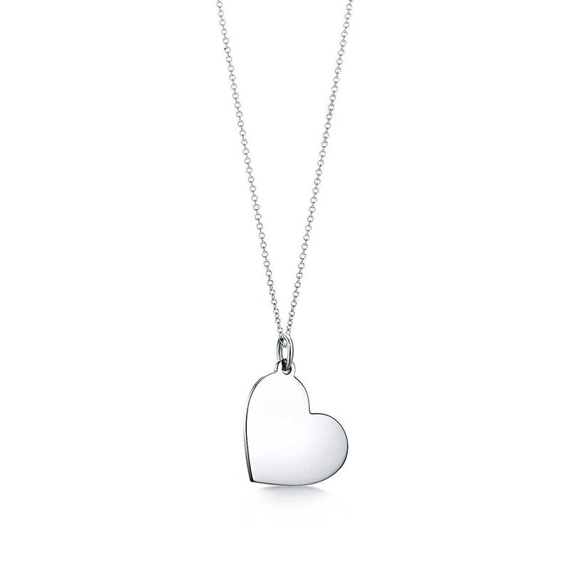 Tiffany & Co./蒂芙尼 925银 心形中号吊牌项链