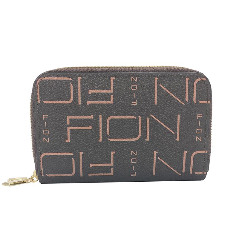 FION 菲安妮经典印花双层钥匙包零钱包