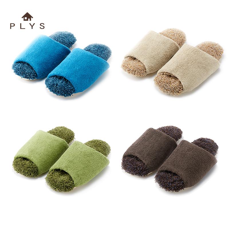 日本卫浴PLYS保暖吸水快干情侣男女拖鞋浴室四季居家室内日式拖鞋