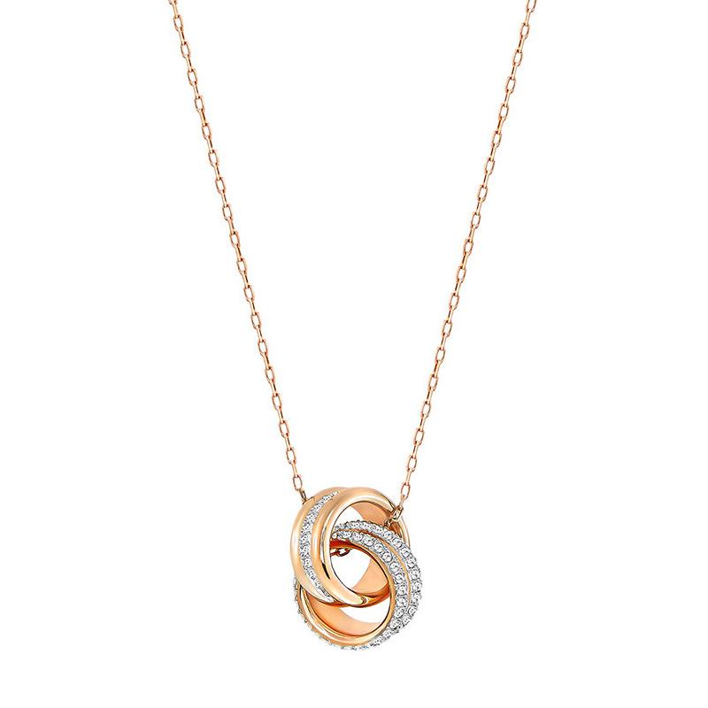 Swarovski 施华洛世奇 女士玫瑰金色质感转运螺旋项链吊坠 5240525