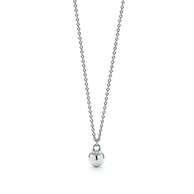 Tiffany & Co./蒂芙尼 HardWear系列 925银 时尚简约银珠装饰小号可调节项链 40/45cm 60571147