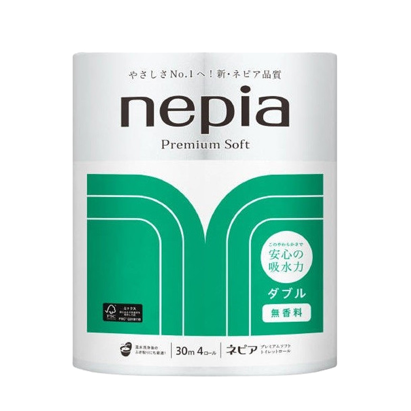 妮飘Nepia 高级厕所用卷纸 无香料型4R 3袋装