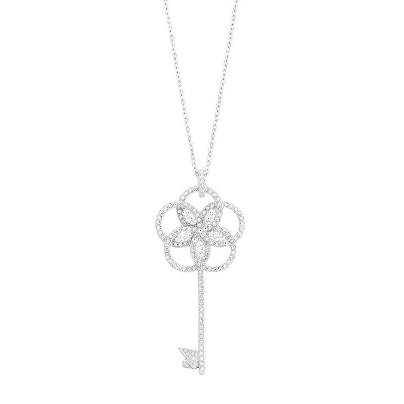 Swarovski 施华洛世奇 女士银色匙型水晶项链 5070889