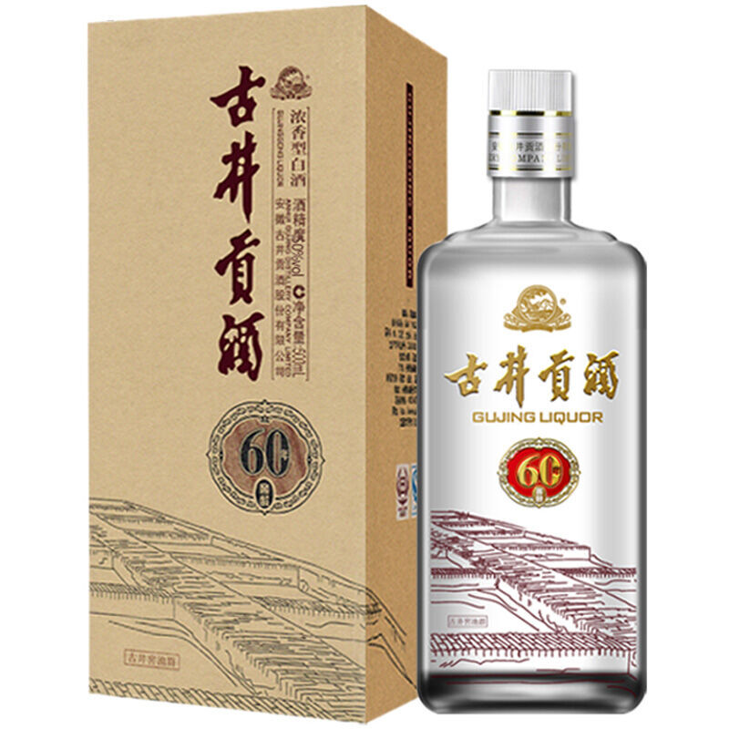古井贡酒 60窖龄 浓香型 白酒 50度 500ml