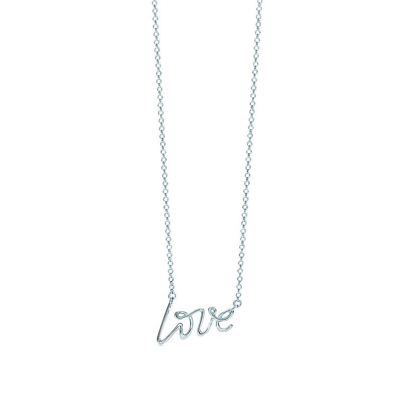 Tiffany & Co./蒂芙尼 Paloma Picasso系列 925银 毕加索 Love 真挚的爱小号吊坠项链锁骨链 40cm 26401402