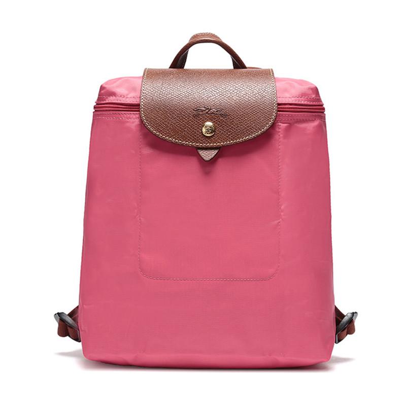 Longchamp 珑骧 尼龙亮粉色女士背包 1699089B49