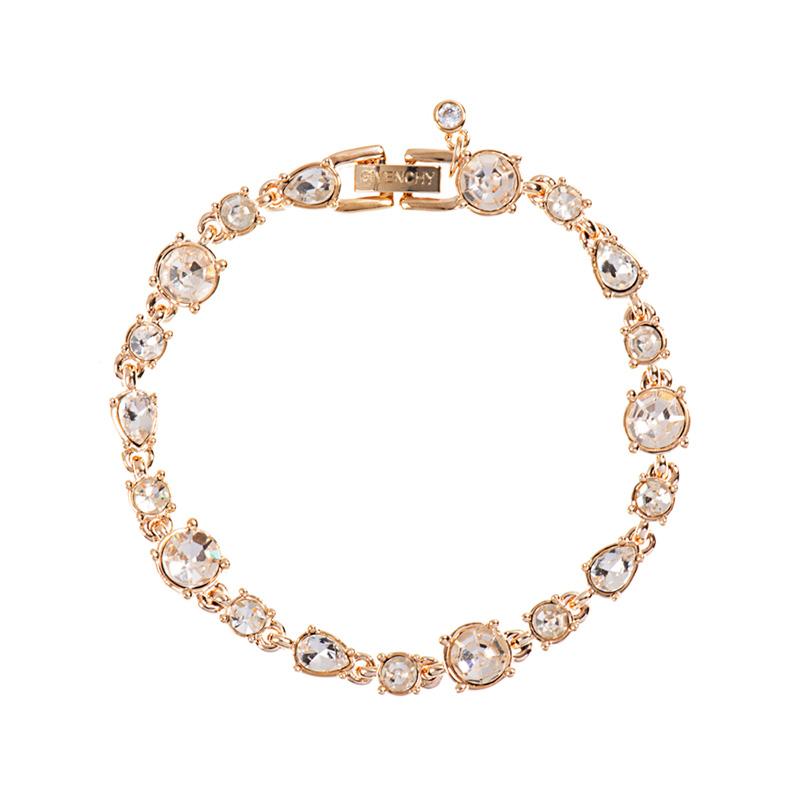Givenchy纪梵希 闪耀系列仿水晶金色女士手链 60461127-887