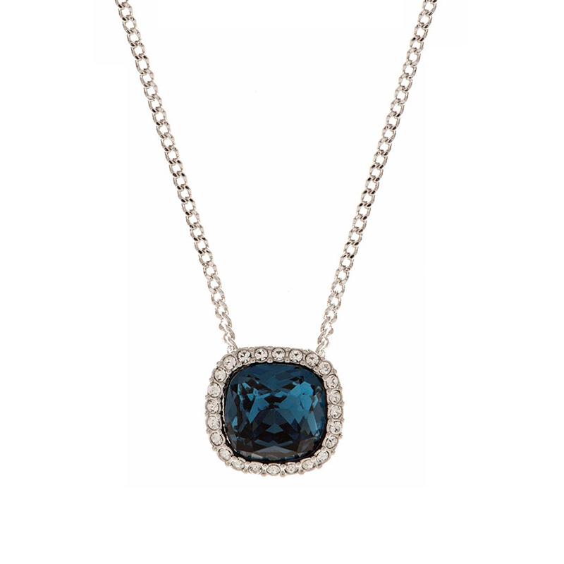 Givenchy/纪梵希 时尚典雅蓝色方形仿水晶女士项链 60432515-NY0