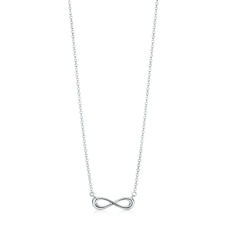 Tiffany & Co./蒂芙尼 Infinity系列 925银 无限符号可调节项链 40/45cm 37725951