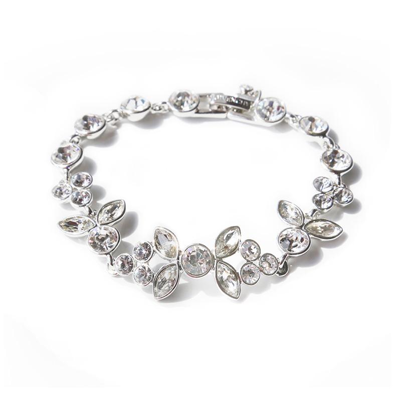 Givenchy纪梵希 奢华华丽系列仿水晶银色女士手链 60468668-NY0