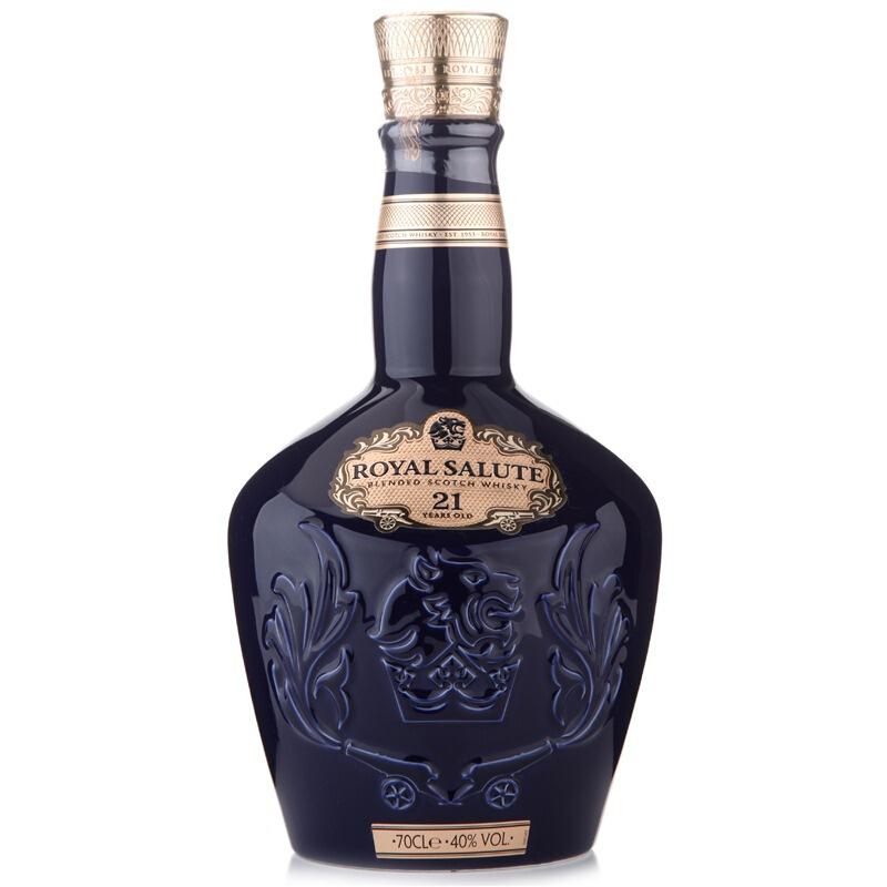 皇家礼炮(Royal Salute)洋酒 21年 苏格兰 威士忌 700ml(红蓝绿三色随机发货)