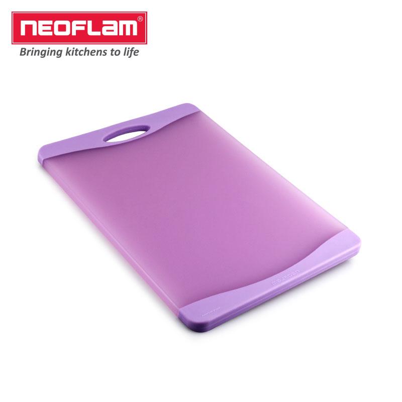 Neoflam双面抗菌防滑透明菜板 (透明紫色)