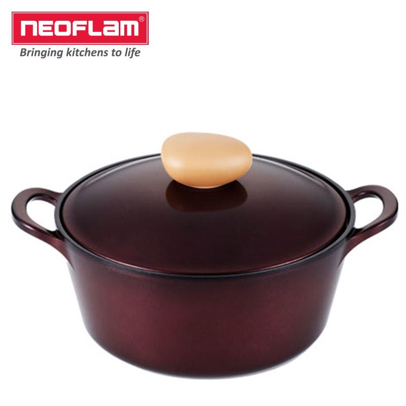 Neoflam24cm汤锅(宝石红色)