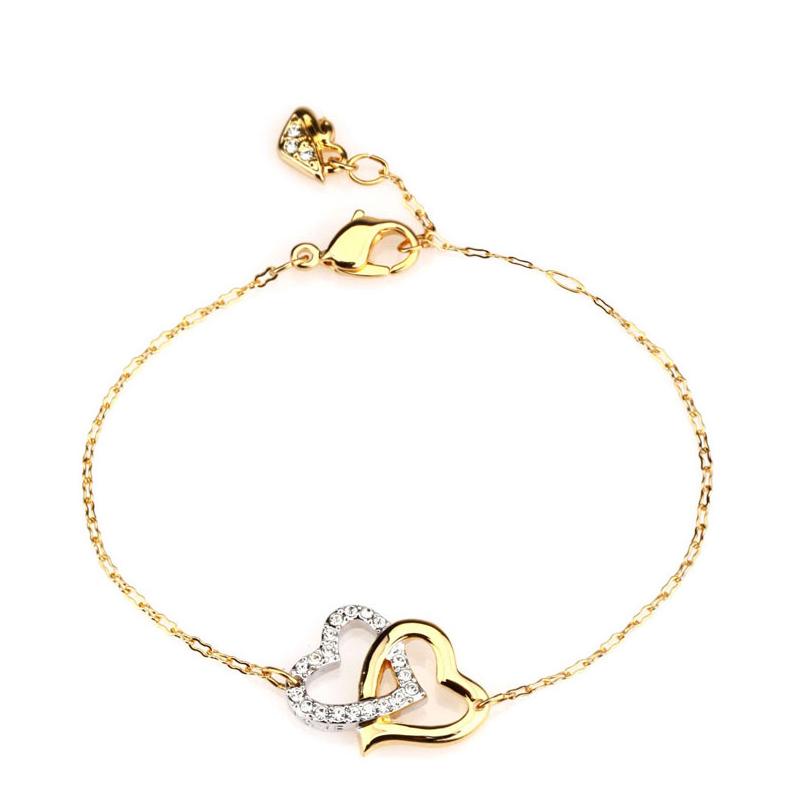Swarovski 施华洛世奇 女士双心手链人造水晶 1062709