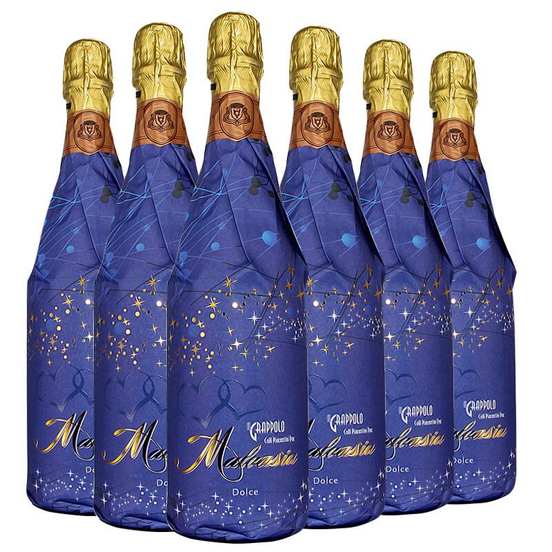 意大利 米兰之花 浪漫星空甜白高泡葡萄酒(夜光酒标)750ML*6支整箱装