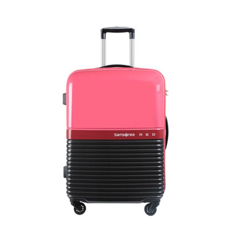 Samsonite新秀丽 75R彩色拼接PC+ABS拉杆箱 红色/深灰
