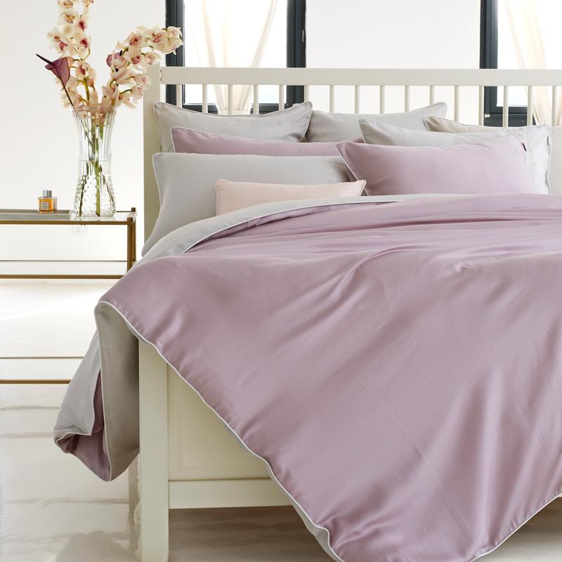 LaSuntin纯色天丝贡缎四件套床笠式礼盒装床上用品