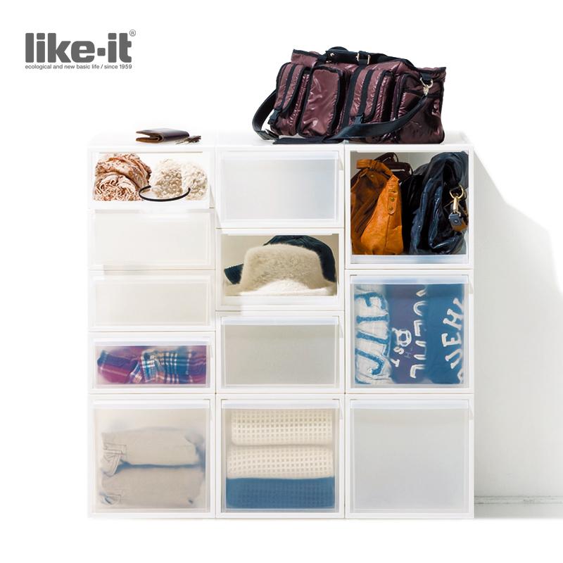 日本进口收纳柜 自由组合高档树脂储物柜 衣物整理柜