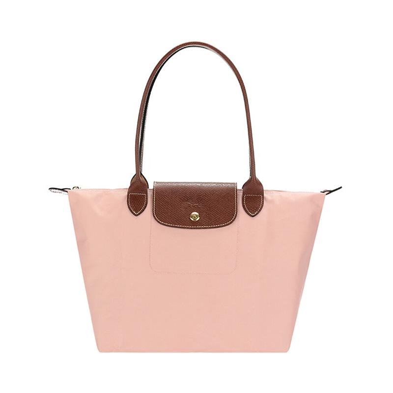 Longchamp 珑骧 尼龙蔷薇粉女士手提包 2605089A26