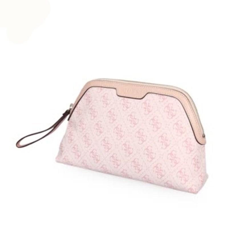 GUESS盖尔斯化妆包粉色  女性时尚休闲PVC+超细纤维