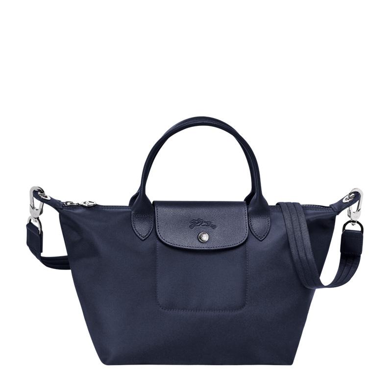Longchamp 珑骧 Le Pliage Néo系列女士单肩帆布手提包1512578006海军蓝色