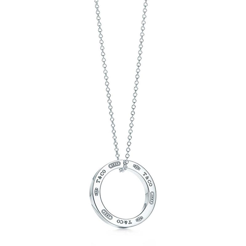 Tiffany & Co./蒂芙尼 1837系列 925银 中号圆环吊坠项链 40cm 25049179
