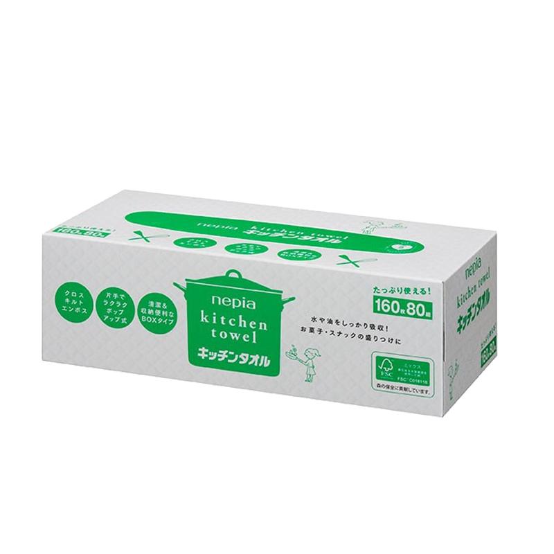 妮飘Nepia 厨房用纸巾 80pic 3盒装
