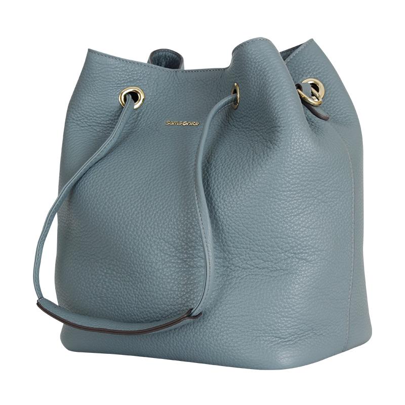 Samsonite新秀丽 BR1全牛皮时尚女士手拎包水桶包