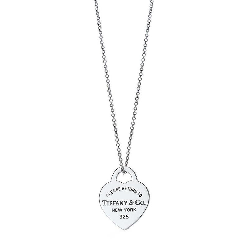 Tiffany & Co./蒂芙尼 Return to Tiffany系列 925银 心形小号吊坠项链 40cm 19611566