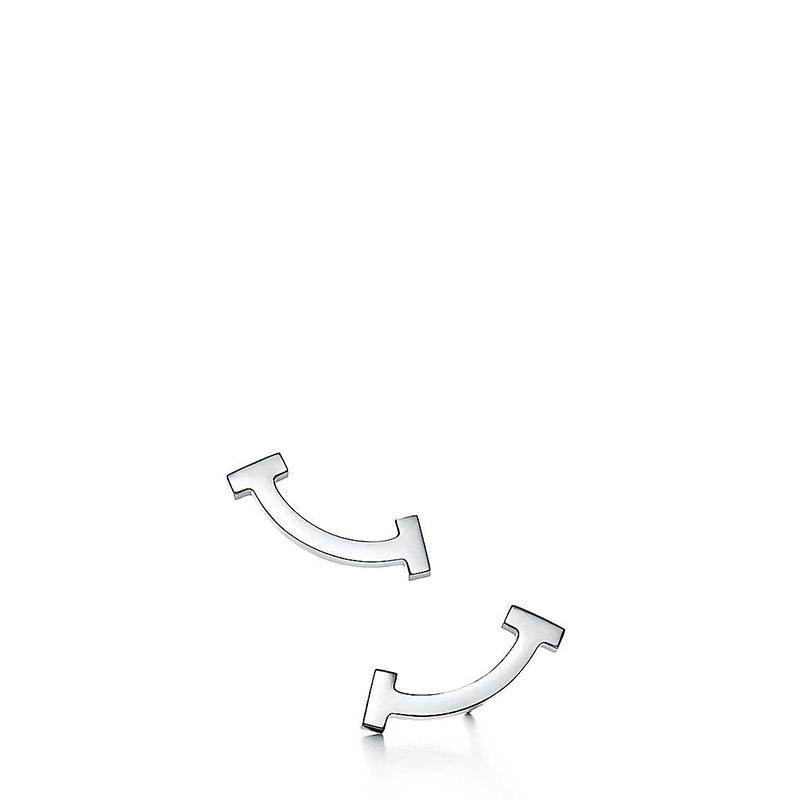 Tiffany & Co./蒂芙尼 Tiffany T系列 925银 微笑/笑脸耳钉 36667214