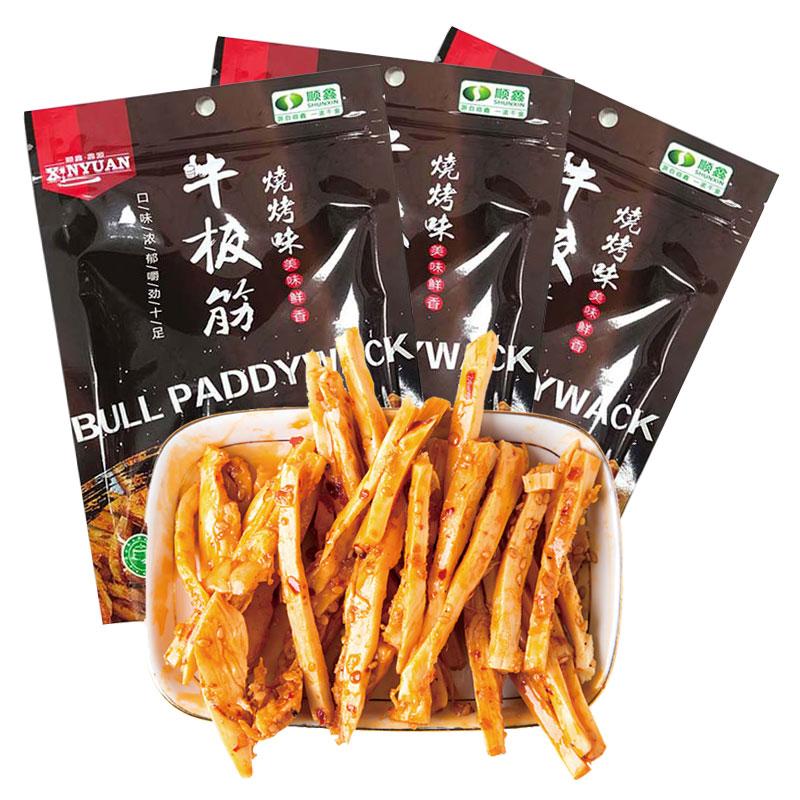 顺鑫·鑫源 休闲零食 牛板筋 烧烤味 85g/袋*3