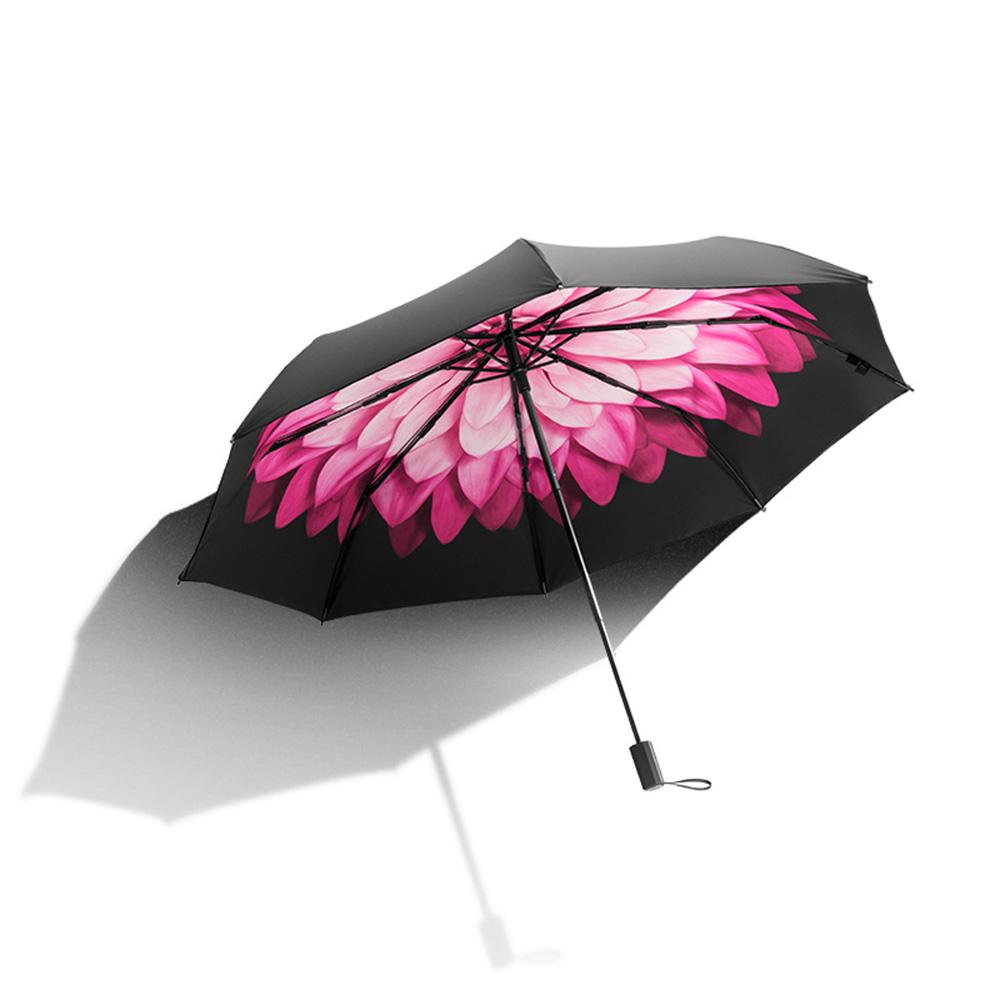 蕉下莲町双层防晒小黑伞折叠晴雨伞女防紫外线太阳遮阳伞