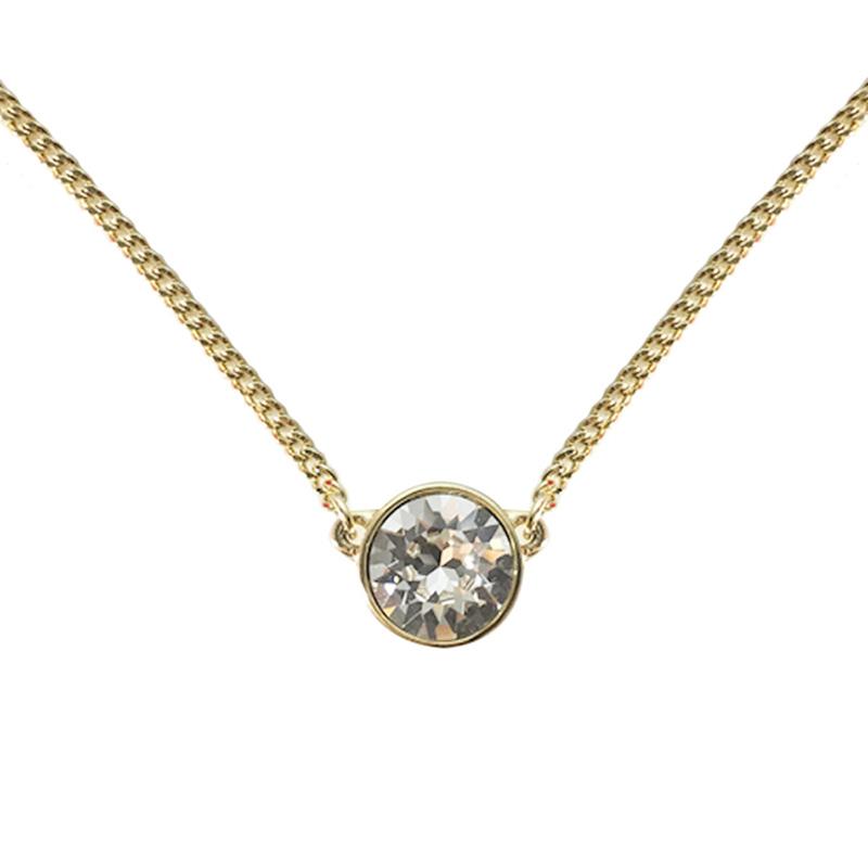 GIVENCHY 纪梵希 经典简约款单颗圆形仿水晶金色女士项链 60287915-887