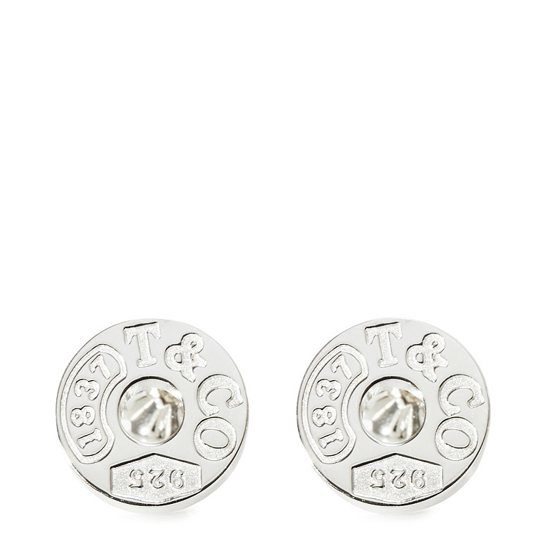 Tiffany & Co./蒂芙尼 1837系列 925银 环形穿针耳钉 19710424