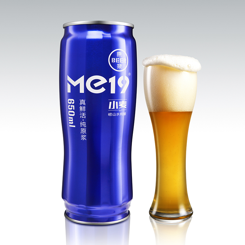 Me19经典小麦原浆鲜啤-蓝罐650ml*6礼品装 29日保鲜