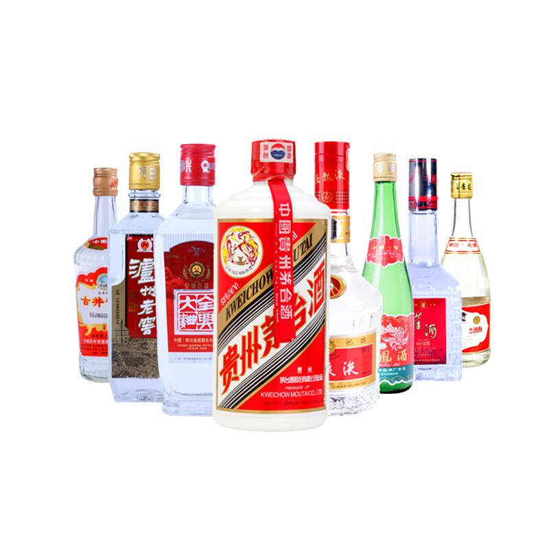 陈年老酒 2000-2005年 八大名酒套装(高度)