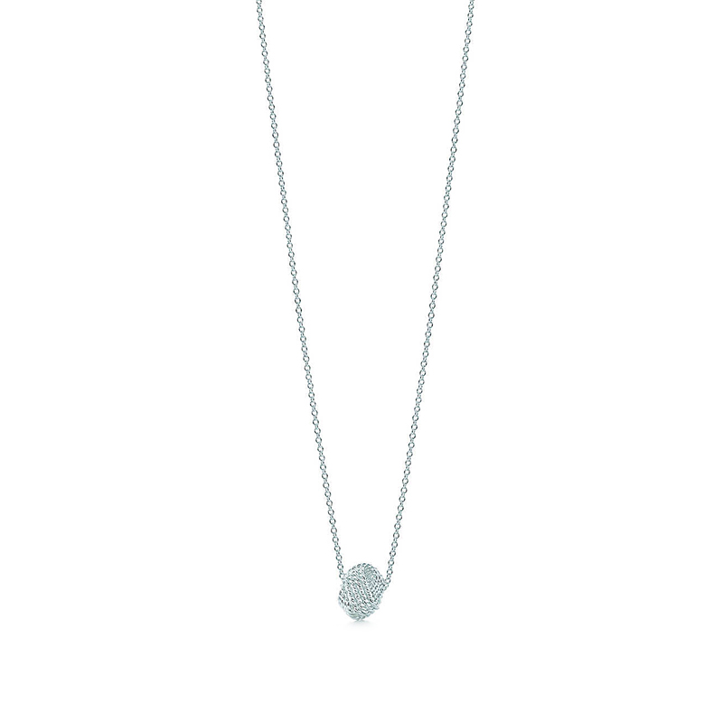 Tiffany & Co./蒂芙尼 Twist系列 结形毛球吊坠项链锁骨链 40cm 29849498
