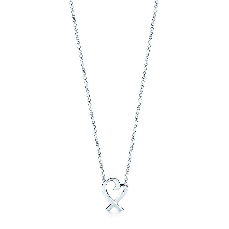 Tiffany & Co./蒂芙尼 Paloma Picasso系列 925银 Loving Heart 迷你心形吊坠项链 40cm 33834748
