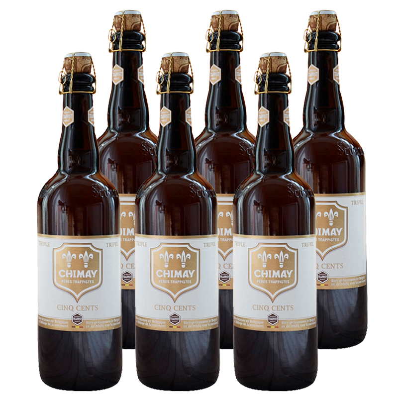 比利时原装进口 智美(Chimay)啤酒白帽 750MLl*6瓶装
