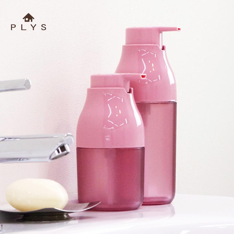 日本卫浴品牌PLYS按压瓶 液体瓶 创意乳液分装瓶 天然树脂起泡瓶