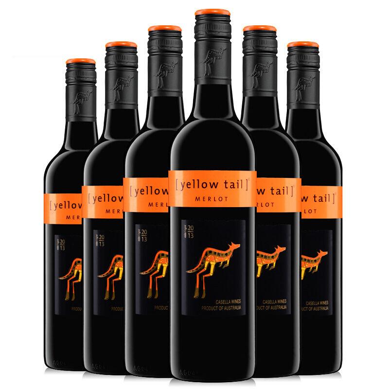 黄尾袋鼠梅洛红葡萄酒*6瓶