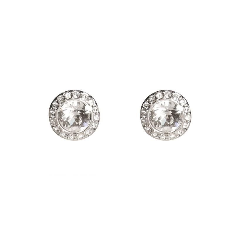 Givenchy/纪梵希 经典圆形仿水晶银色女士耳夹 60461603-NY0