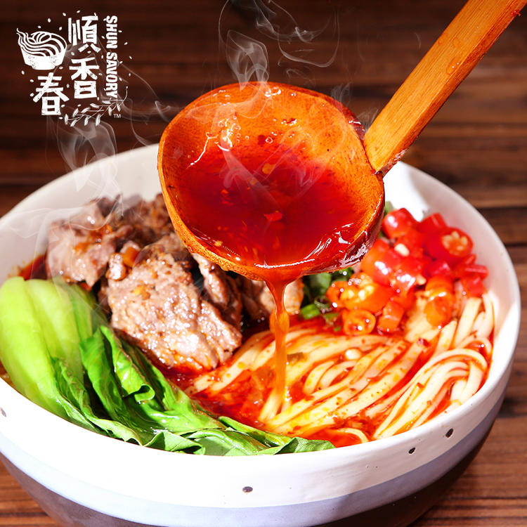 顺香春营养美味速食方便汤面速食面条速食挂面香辣牛肉味汤面160g