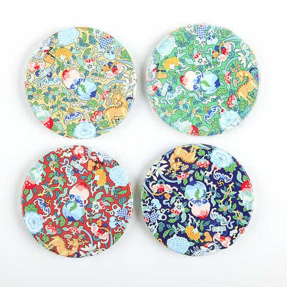 故宫宫廷文化|玩闹智造 隔热防滑陶瓷杯垫(四个一套)
