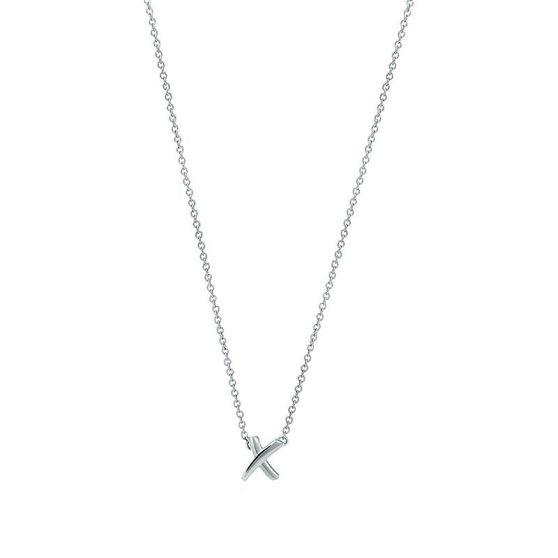 Tiffany & Co./蒂芙尼 Paloma's Graffiti系列 925银 毕加索 mini X 手写体吊坠项链锁骨链 40cm 61912495