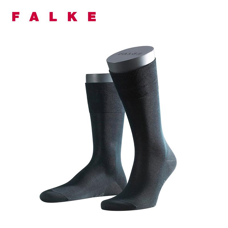 FALKE商务黑袜子Tiago棉德国进口四季正装长中筒男士袜14662