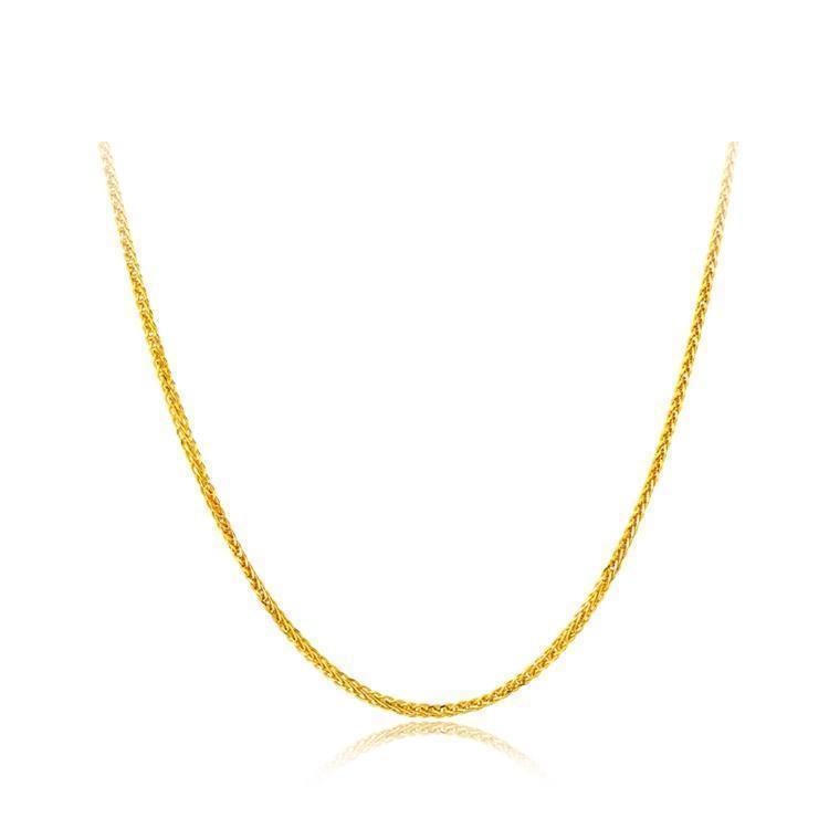周大福珠寶17916系列精致時尚22k金彩金項鏈素鏈E122266 40cm