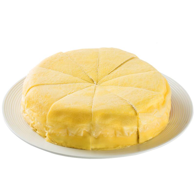 普利欧(perlo)榴莲千层蛋糕 820g 10片 8寸 金枕头榴莲冷冻蛋糕 生日蛋糕 网红甜品 下午茶